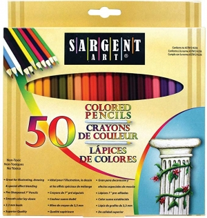 ihocon: Sargent Art Premium Coloring Pencils, Pack of 50 Assorted Colors彩色鉛筆