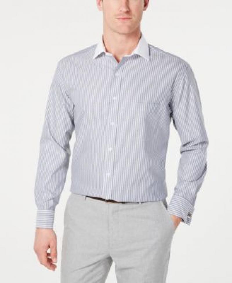 ihocon: Tasso Elba Men's Classic/Regular Fit Non-Iron Dress Shirt 男士免熨襯衫-2色可選
