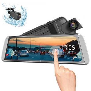ihocon: Campark R10 Backup Camera 10 Mirror Dash Cam 雙鏡頭行車記錄器