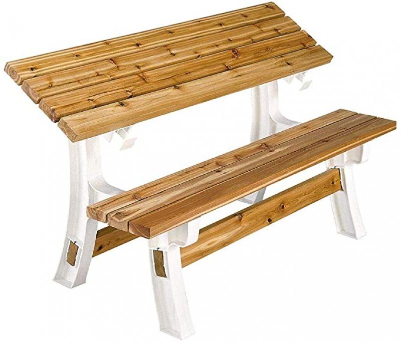 ihocon: 2x4basics 90110ONLMI Custom Flip Top Bench to Table可翻轉休閒椅(椅背可變成桌面)