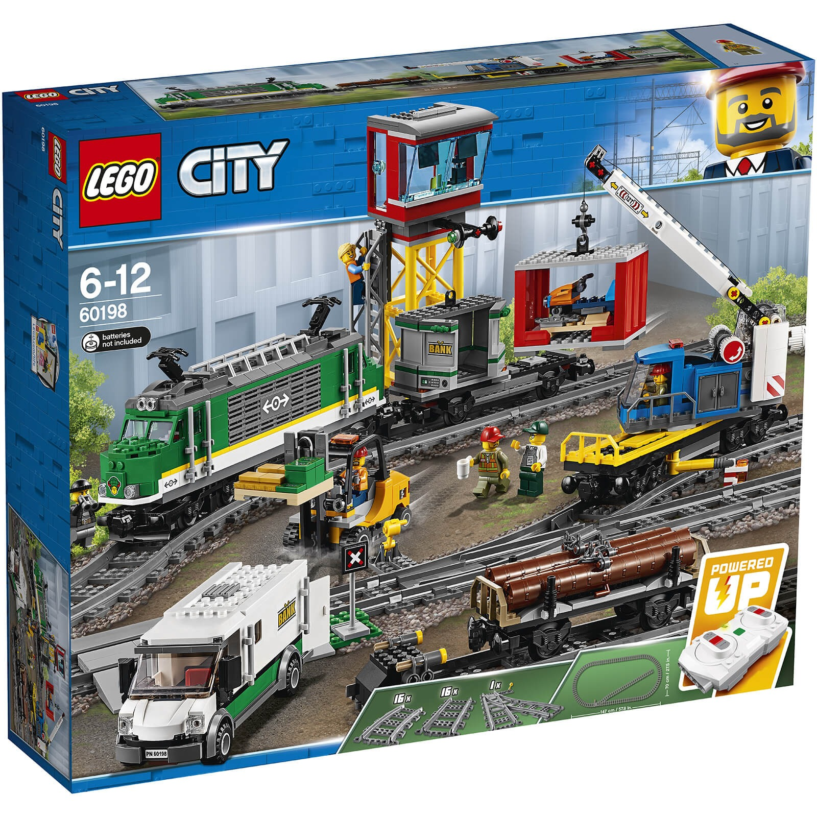 ihocon: 樂高積木LEGO City: Cargo Train RC Battery Powered Set (60198)