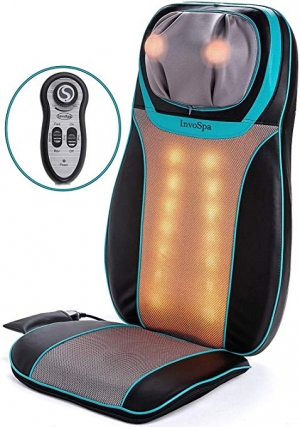 ihocon: InvoSpa Shiatsu Neck and Back Massager Chair with Heat 加熱按摩椅墊