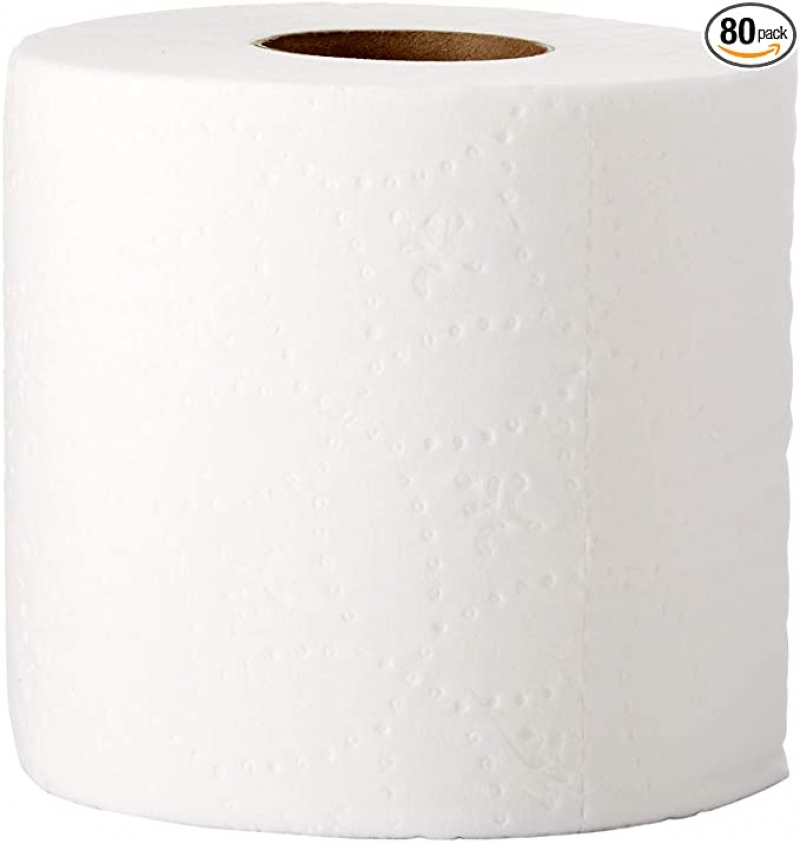 ihocon: AmazonCommercial Ultra Plus Toilet Paper, 400 Sheets per Roll, 80 Rolls 廁所衛生紙