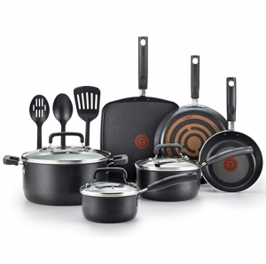 ihocon: T-fal C530SC Signature Nonstick Thermo-Spot Heat Indicator, 12 Piec Cookware Set熱點顯示不粘鍋組