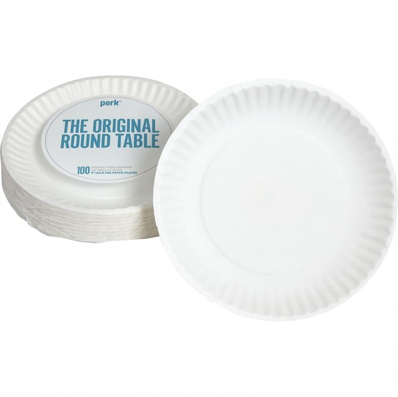 ihocon: Perk Economy Paper Plates, 9, 100/Pack (PK56516) 紙盤