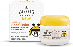 ihocon: Zarbee's Naturals Baby Soothing Face Balm, 1.75 Ounces, with Beeswax, Sunflower & Chamomile 嬰兒蜂蠟舒緩面霜