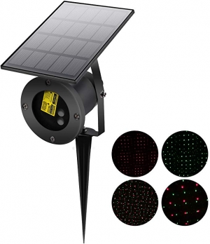 ihocon: Supsoo RGB Spotlight Outdoor Garden Christmas Lights with Solar Waterproof Wall Lights  太陽能燈聖誕燈投射燈