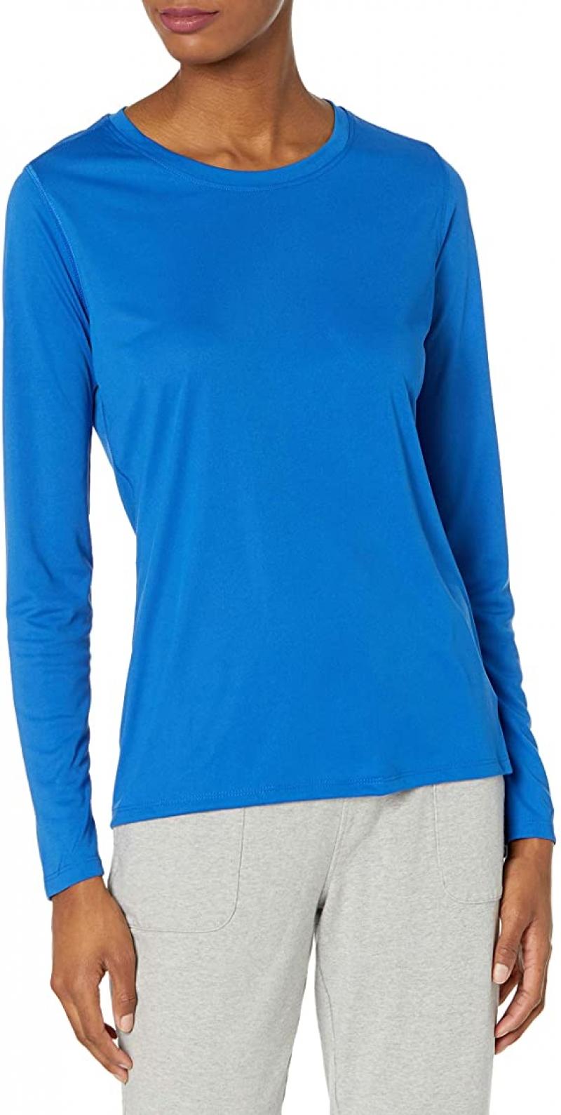 ihocon: Hanes Sport Women's Cool DRI Performance Long Sleeve Tee  女士長袖衫-多色可選