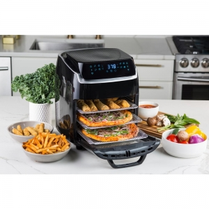 ihocon: modernhome 10 QT Aria Air Fryer With Rotating Rotisserie, Dehydration, Premium Accessory Set, & Recipe Book 氣炸鍋