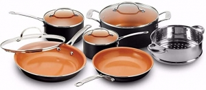 ihocon: Gotham Steel 10 Piece Cookware Set with Nonstick Ceramic Coating 不粘鍋組
