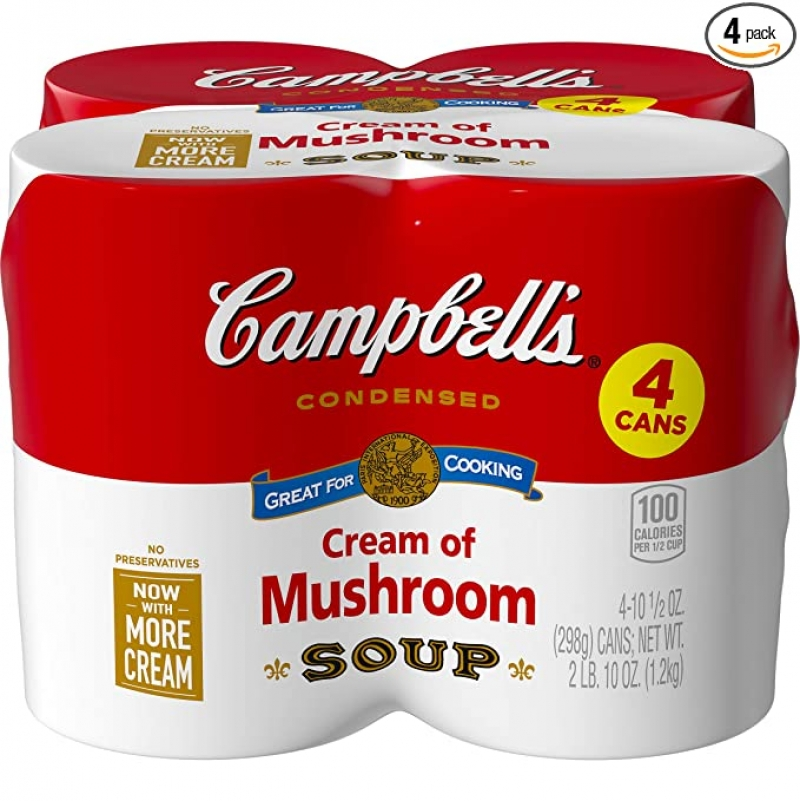 ihocon: Campbell's Condensed Cream of Mushroom Soup, 10.5 oz. Cans (Pack of 4) 濃縮蘑菇濃湯