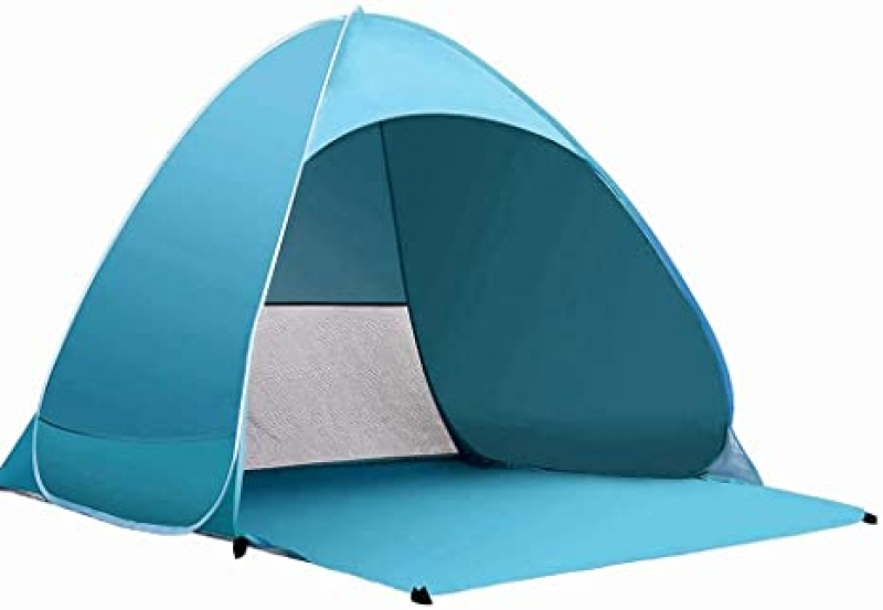 ihocon: BXHWRUN Beach Tent Portable Pop up Sun Shelter with Carry Bag for 2-3 Person 遮陽帳