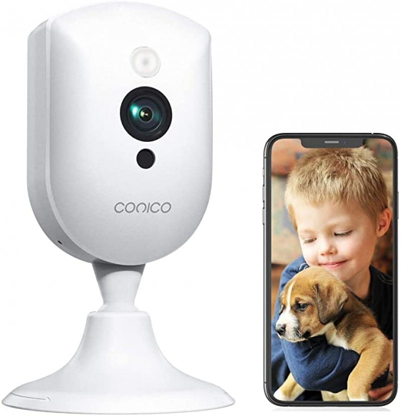 ihocon: Conico 1080P Home Security Camera with Sound Motion Detection IR Night Vision, WiFi Camera Cloud Service Compatible with Alexa 居家安全室內監看器/嬰兒監視器