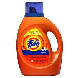 ihocon: Tide Laundry Detergent Liquid, Original Scent, HE Turbo Clean, 100 Fl Oz 洗衣劑