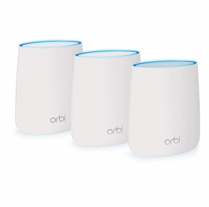 ihocon: NETGEAR Orbi Whole Home Mesh WiFi System - WiFi router and 2 satellite extenders with speeds up to 2.2 Gbps over 6,000 sq. feet, AC2200 (RBK23)  家庭網狀系統 -  路由器和2個衛星