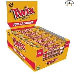 ihocon: Twix 100 Calories Caramel Chocolate Cookie Bar Candy 0.71-Ounce Bar 24-Count Box  巧克力餅乾棒