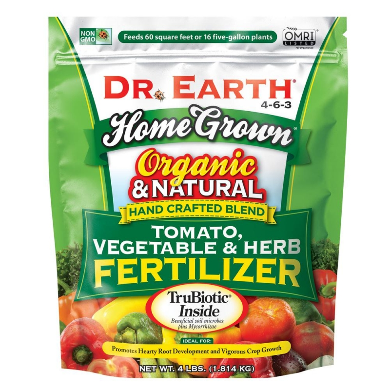 ihocon: DR. EARTH 4 lbs. 60 sq. ft. Organic Home Grown Tomato Vegetable and Herb Dry Fertilizer 有機自家番茄蔬菜肥料