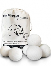 ihocon: OHOCO Wool Dryer Balls 6 Pack XL, Organic有機烘衣羊毛球