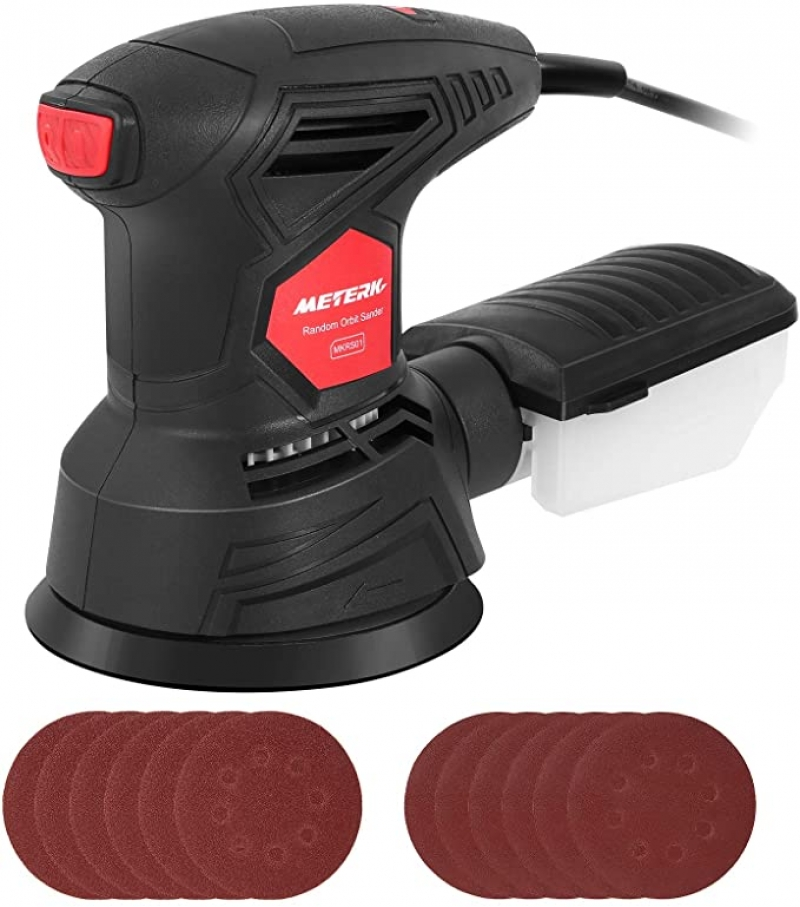 ihocon: Meterk 5 Inch 2.5A Orbital Sander with 12-Pieces Sandpapers電動打磨機