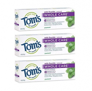 ihocon: Tom's of Maine Whole Care Toothpaste, Toothpaste, Natuaral Toothpaste, Spearmint, 4.0 Ounce, 3-Pack 牙膏
