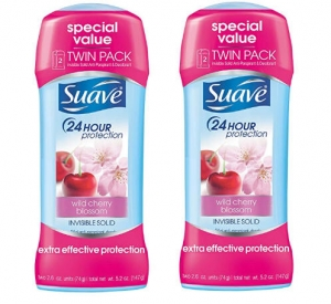 ihocon: Suave Antiperspirant Deodorant, Wild Cherry Blossom 2.6 oz, Twin Pack 止汗體香劑2個