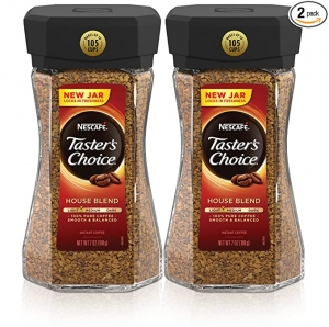 ihocon: Nescafe Taster's Choice House Blend Instant Coffee, 7 Ounce (Pack of 2) 即溶咖啡