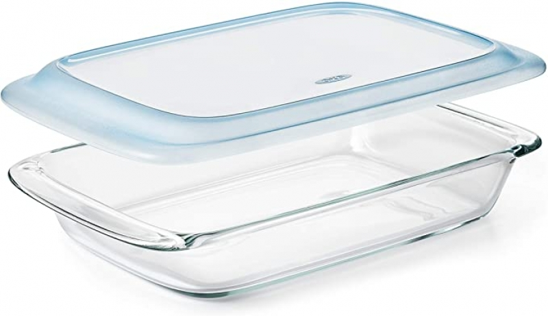 ihocon: OXO Good Grips Freezer-to-Oven Safe 3 Qt Glass Baking Dish with Lid  含蓋玻璃保鮮盒/烤皿