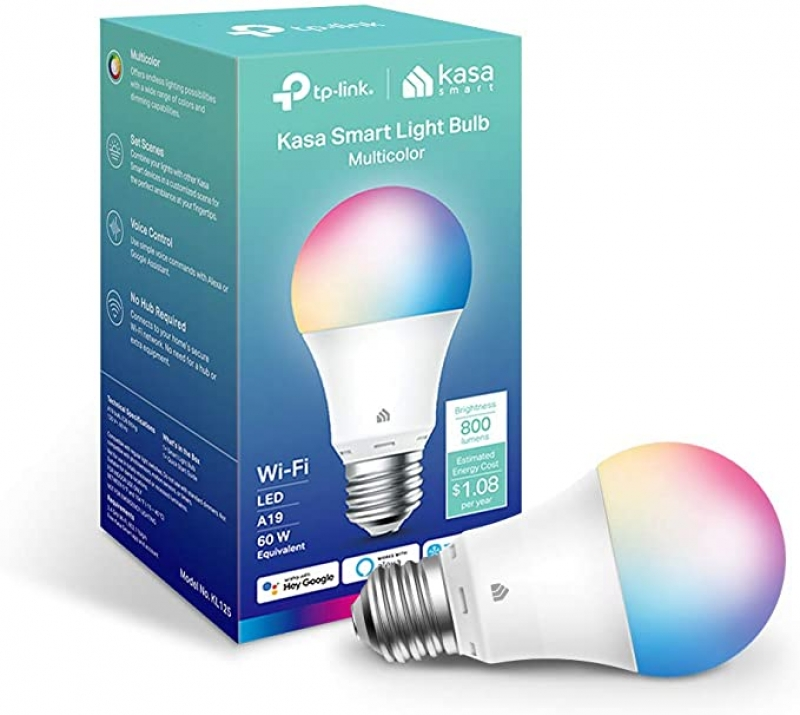ihocon: Kasa Smart Full Color Changing Dimmable Smart WiFi Light Bulb彩色智能燈泡