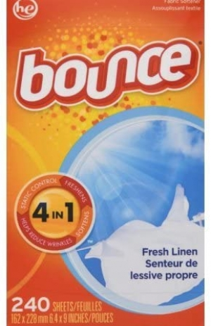 ihocon: Bounce Fresh Linen Scented Fabric Softener Dryer Sheets, 240 Count 衣物柔軟烘衣紙