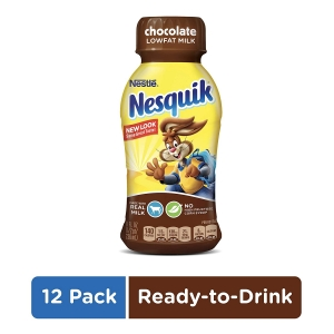 ihocon: NESQUIK Chocolate Low Fat Milk | Protein Drink | 12 Bottles 低脂巧克力奶
