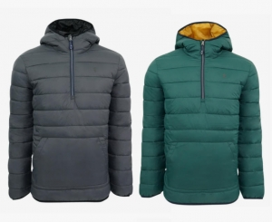 ihocon: IZOD Men's Quilted 1/4 Zip Pullover Puffer Jacket 男士套頭夾克-多色可選