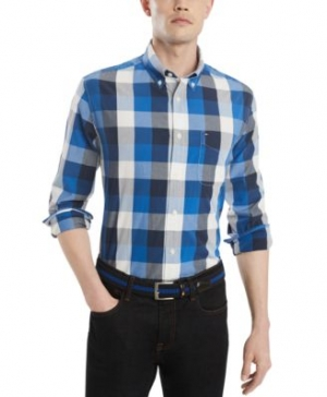 ihocon: Tommy Hilfiger Men's Classic Fit Calmon Plaid Shirt, Created for Macy's  男式襯衫