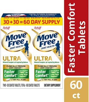 ihocon: Move Free Calcium Based Ultra Faster Joint Health Supplement Tablets (60 Count / Bottle) 維骨力