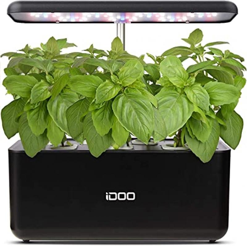 ihocon: Idoo Hydroponics Indoor Herb Garden Starter Kit with LED Grow Light(7 Pods) 室內水耕植物種植機