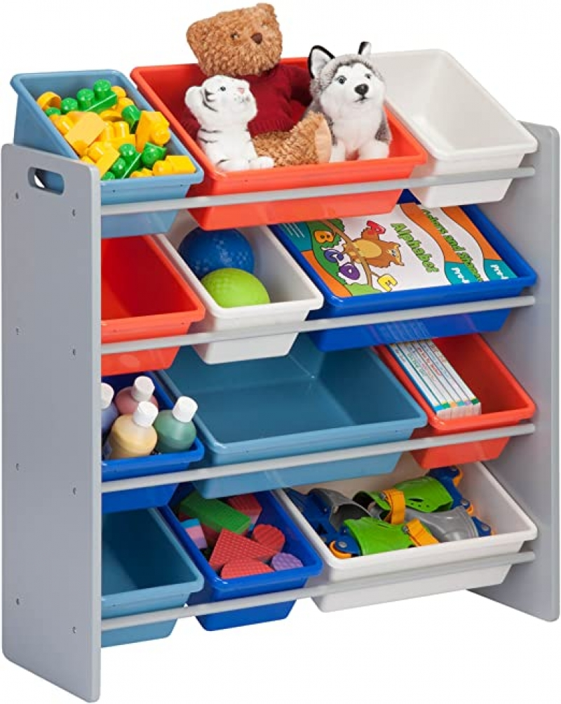 ihocon: Honey-Can-Do SRT-06475 Kids Toy Organizer and Storage Bins 兒童玩具架