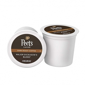 ihocon: Peet's Coffee Major Dickason's Blend, Dark Roast, 75 Count Single Serve K-Cup Coffee Pods 咖啡膠囊