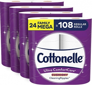 ihocon: Cottonelle Ultra ComfortCare Soft Toilet Paper with Cushiony Cleaning Ripples, 24 Family Mega Rolls 衛生紙