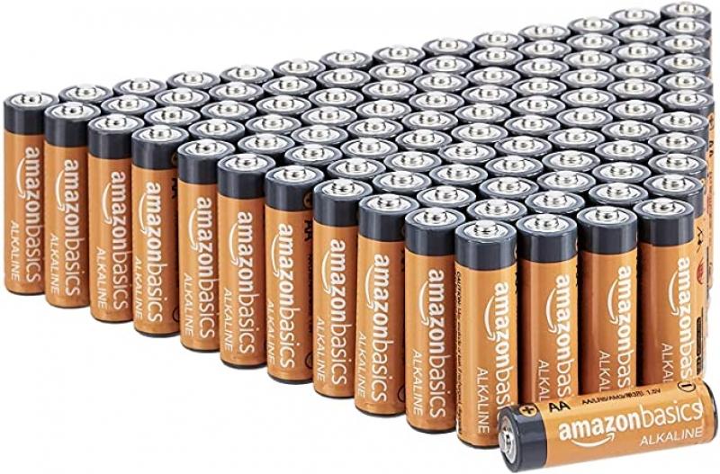 ihocon: Amazon Basics 100 Pack AA High-Performance Alkaline Batteries電池