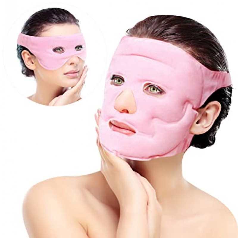 ihocon: Ousen Home Ice Face Eye Mask for Cold Hot Compress Therapy, 2 Pcs ,臉部冷熱敷袋2個