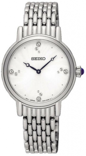 ihocon: Seiko Women's Analog Quartz Crystals Stainless Steel Watch SFQ805 精工水晶女錶