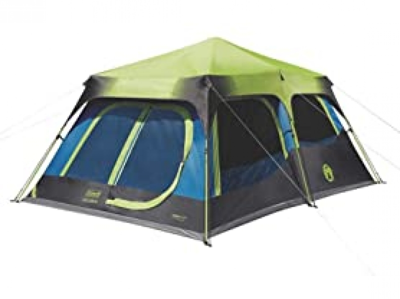 ihocon: Coleman 10-Person Dark Room Cabin Tent with Fast Pitch Setup 帶快速音高設置功能的 10人暗室帳篷