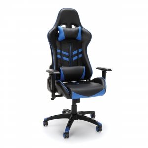 ihocon: Essentials by OFM ESS-6065 Racing Style Gaming Chair, Blue 遊戲電腦椅/辦公椅
