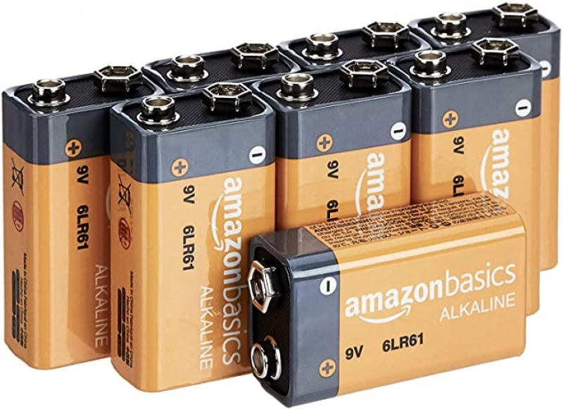 ihocon: AmazonBasics 9 Volt Everyday Alkaline Batteries - Pack of 8  9伏電池