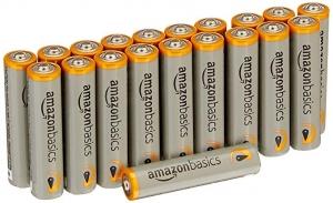 AmazonBasics AAA 鹼性電池 20粒 $4.21(原價$6.48)