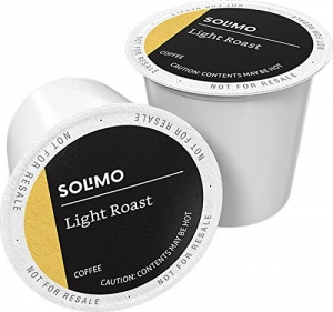 ihocon: Amazon Brand - 100 Ct. Solimo Light Roast Coffee K-Cup Pods, Morning Light, Compatible with 2.0 K-Cup Brewers咖啡膠囊