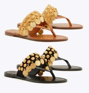 ihocon: Tory Burch Patos Coin Thong Sandal- 2色可選