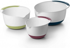 ihocon: OXO Good Grips 3-Piece Mixing Bowl Set with Red/Green/Blue Handles 攪拌碗