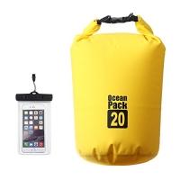 ihocon: XY Fancy Floating Waterproof Dry Bag 20L with IPX8 Floating Waterproof Phone Case 防水袋及手機防水袋