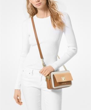 ihocon: MICHAEL Michael Kors Sylvia Tricolor Crossgrain Leather Double Zip Crossbody - 多色可選