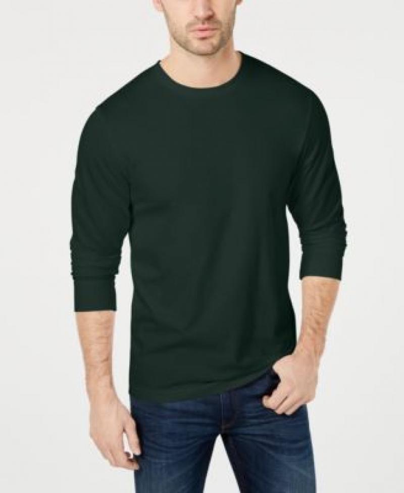 ihocon: Club Room Men's Long Sleeve Crew-Neck T-Shirt 男士長袖衫